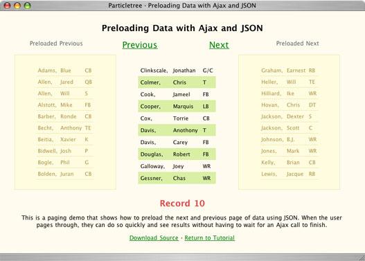 json paging demo